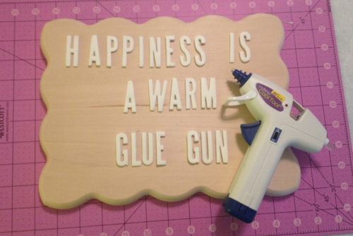 Glue gun sign 5