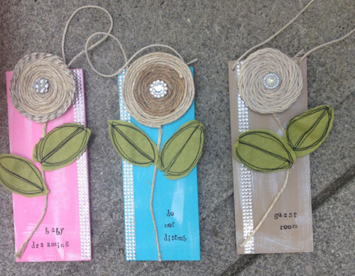 Shabby door hangers beauty 1