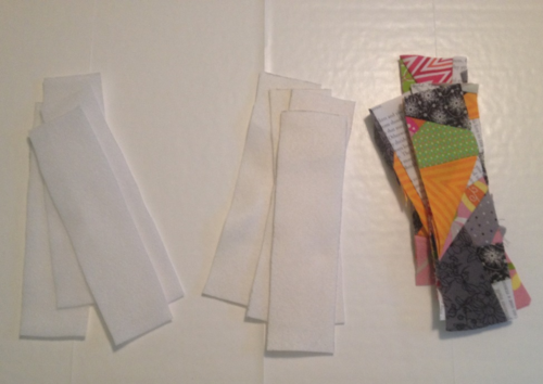Fabric scrap bookmarks 2
