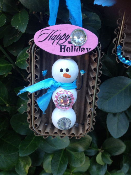 Recycled Tin Ornaments 1
