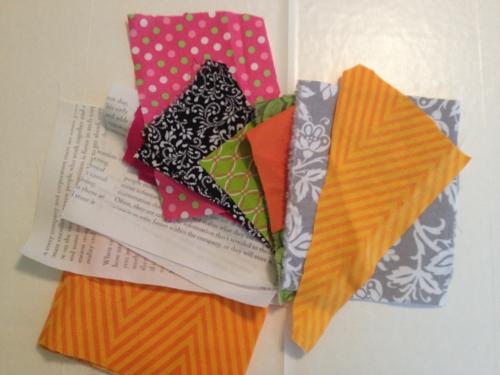 Fabric scrap coasters a
