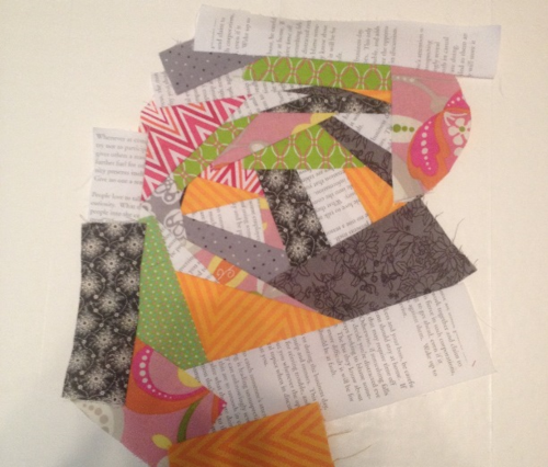 Fabric scrap bookmarks 1